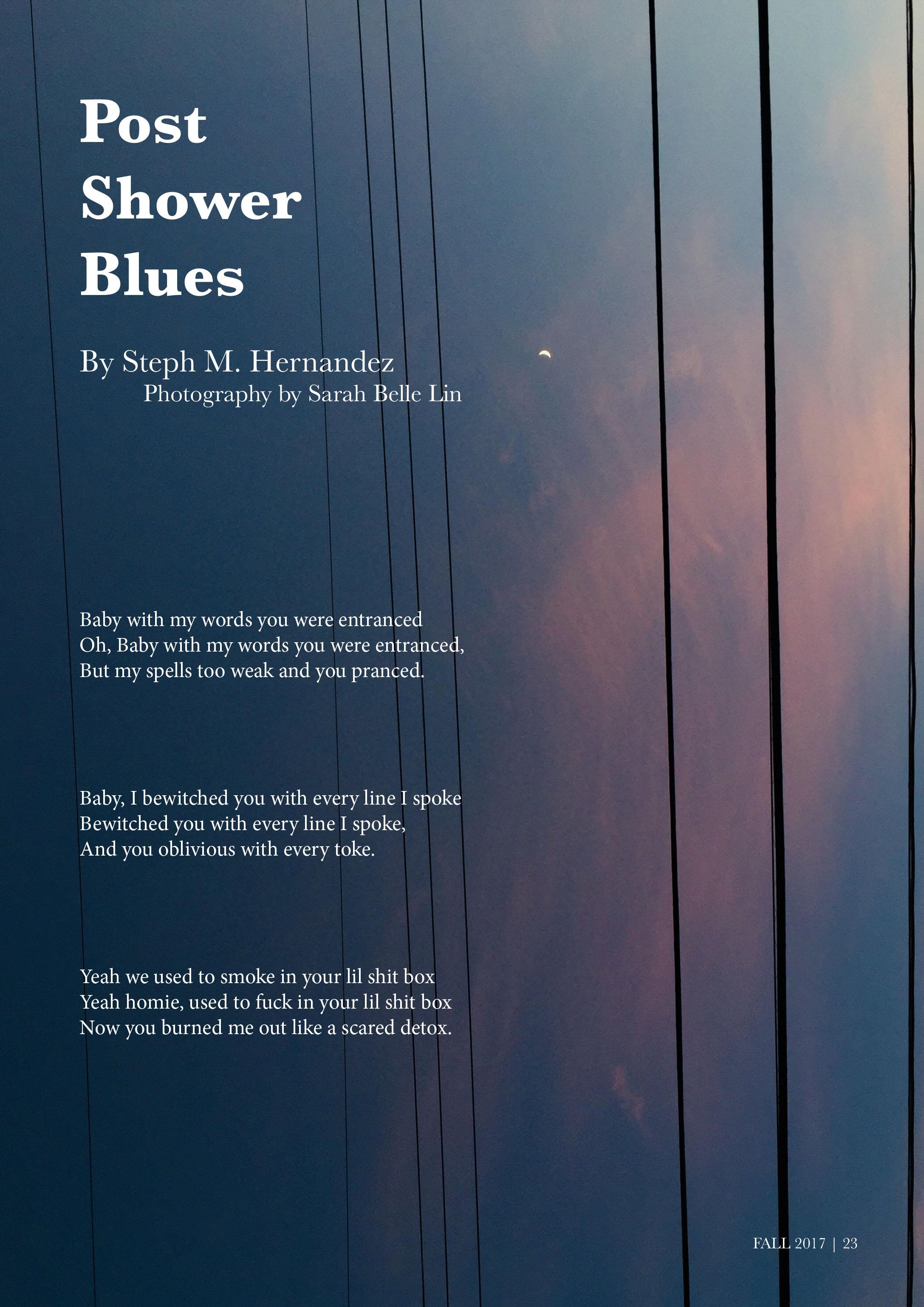 Post Shower Blues – TWANAS Press